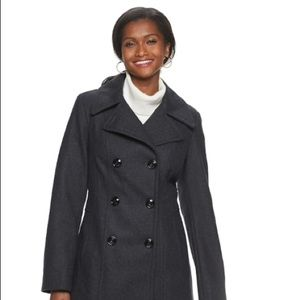 Michael Kors double breasted wool blend pea coat